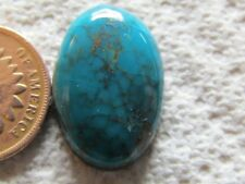 Turquoise Cabochon 16 carat Cab Unknown Origin Mystery Web Blue Green Boulder