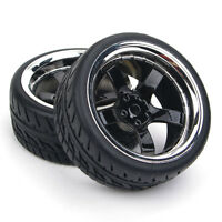 RC 4Pcs Run Flat Tires&Wheel 12mm Hex For HSP HPI  1:10 On-Road Model Car Tyres