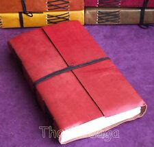 Carnet Notebook Cuir 240 pages 23x15x3cm 500g Tha-in-daga Inde Rouge