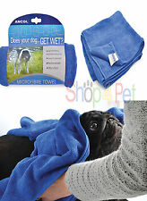 Ancol Microfibre Blue Towel  -100 x 50 cm Machine Washable Does your Dog Get Wet