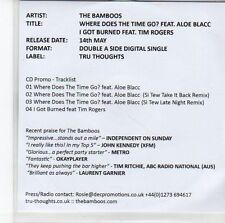 (EE845) The Bamboos, Where Does The Time Go? (Featuring Aloe Blacc) - 2012 DJ CD