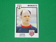 N°137 LUCIEN MULLER AS MONACO LOUIS II PANINI FOOTBALL 85 1984-1985