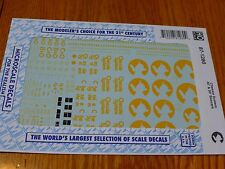 Microscale Decal HO  #87-1280  Chessie System 40' & 50' Boxcars-Use with Sets 87