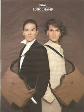 PUBLICITE ADVERTISING 2003 LONGCHAMP Les Sacs pour les Hommes