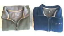 Lot of 2 EDDIE BAUER Sweaters Men's XLT Green Blue Cotton Knit Sweaters XL Tall