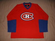 Montreal Canadiens red NHL Men's Size Large NHL Hockey Jersey
