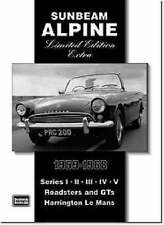 Sunbeam Alpine Limited Edition Extra 1959-1968 by Brooklands Books Ltd (Paperback, 2005)