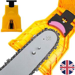 Electric Chainsaw Teeth Sharpener Chain Blade Bar Mount Self Sharpening Grinder