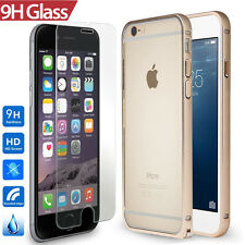 Apple iPhone 6 Plus Bumper FLEX Aluminum Buckle Open Case+0.3MM Real Class Film