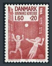 Denmark B60 block/4,MNH.Michel 722. Children playing ball,1981.