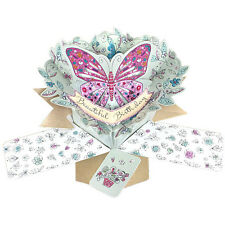 3D Pop Up Greeting Card by Second Nature - BUTTERFLY BIRTHDAY - SN-POP-123
