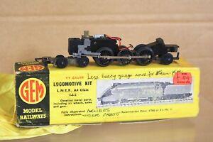 GEM TT GAUGE KIT BUILT LNER 4-6-2 CLASS A4 LOCOMOTIVE KIT & BRITANNIA CHASSIS