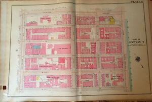 1909 NEW YORK CANCER HOSPITAL W105TH ST TO CATHEDRAL PWY MANHATTAN NY ATLAS MAP