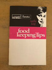 Montgomery Ward Food Keeping Tips Carefree Living Pamphlet Vintage