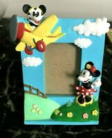 VINTAGE DISNEY MICKEY AND MINNIE MOUSE-  2 x 3 PICTURE FRAME - 1994