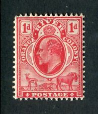 Orange River Colony, South Africa 1905 KEVII. 1d scarlet. MH. MC CA. SG 149.
