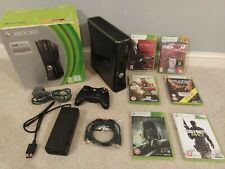 HUGE BUNDLE! Xbox 360 Slim 250GB BOXED Gloss Black With 6 High Rated Games! HDMI