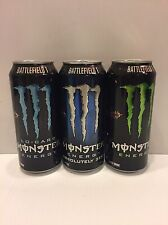 Monster Energy Drink Battlefield 1 Set. One Of Each Full 16oz Cans Lot