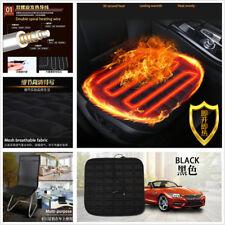 1Pcs Black Fiber Square Heating Seat Mat Car 12V Front Seat Heating Warm Cushion