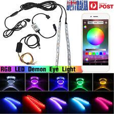 RGB LED Demon Eye Halo Ring Projector Headlight Retrofit Bluetooth APP Control