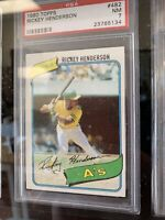 1980 Topps Rickey Henderson ROOKIE RC #482 PSA 7 NM