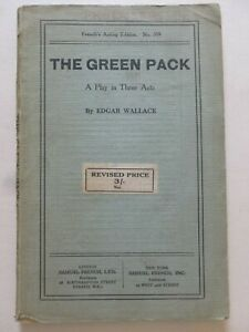 Edgar Wallace – THE GREEN PACK (1933) - Play