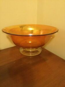 1930s Imperial Glass Marigold Double Scroll Oval Bowl Awesome!
