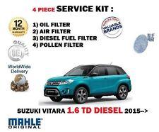 PARA SUZUKI VITARA 1.6dt DDiS 2015> NUEVO Aire Aceite Combustible De Pólen 4