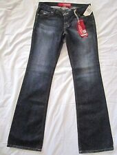 GUESS Foxy Flare Women's 28 Embroidered Pocket Distressed Dark Denim Jeans
