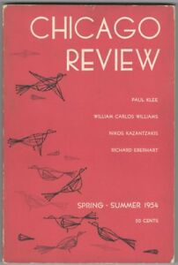 Paul Klee Cover Issue of the Chicago Review Spring - Summer 1954