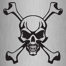 Skull And Crossbones Sticker Vinyl Car Decal 210mm x 205mm #1