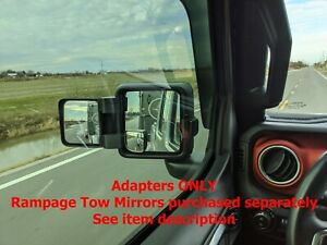 Jeep JT/Gladiator & JL/Wrangler Rampage Tow Mirror Adapters