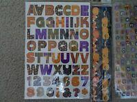 HALLOWEEN scrapbook stickers lot of 5