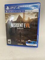 Resident Evil 7: Biohazard Sony PlayStation 4 PS4 Video Game Tested VG Capcom VR