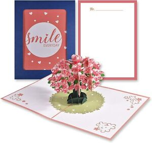 [3 in 1] 3D Pop Up Card, Holiday Greeting Cards with Signature Paper & Envelope