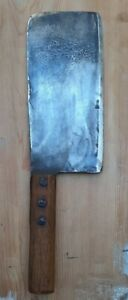 VINTAGE CHEF'S BUTCHER'S HEAVY MEAT CLEAVER