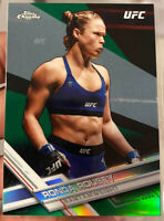 2017 Chrome Green Refractor Ronda Rousey Limited To /99 Chrome Rookie PSA Ready
