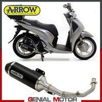 Scarico Completo Arrow Urban Alluminio Nero Nero Honda Sh 125 2017 > 2020