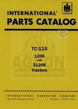 FARMALL International 1206 21206 Parts Catalog Manual