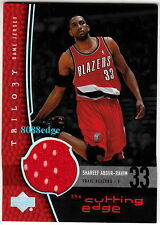 2004-05 TRILOGY CUTTING EDGE JERSEY CARD: SHAREEF ABDUR-RAHIM - BLAZERS (AWAY)