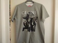 """Celine Dion """"TAKING CHANCES"""" 2007 World Tour grey concert T-Shirt"""