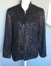 Ladies Jacket Black by Alfred Dunner Size 14
