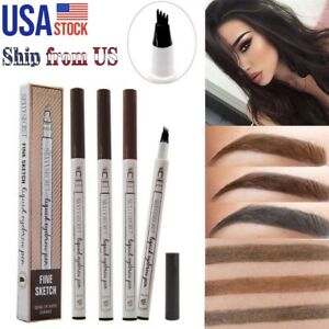 Eyebrow Tattoo Pen Microblading Eyebrow Pencil Waterproof Smudge-Proof Ink Pen