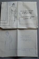 """"""" MODES & TRAVAUX """" PATRONS AOUT 1980 + PATRON POUPEE MARIE FRANCOISE J. MIC A10"""