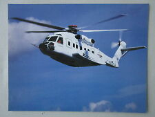 DOCUMENT 1 PAGE RECTO VERSO SIKORSKY S-92 HELIBUS HELICOPTER HUBSCHRAUBER