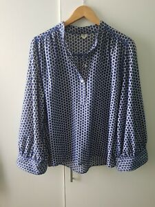 Arket Blue Top Size 36 UK 10 Cutout Casual Blogger Chic Modern