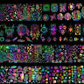 8x Holographic Nail Foil Xmas Geometric Dream Catcher Nail Art Transfer Stickers