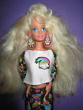 B512-ancienne blonde vintage troll Barbie #10257 MATTEL 1992 complet Bijoux RAR