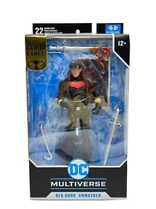 Mcfarlane DC Multiverse Red Hood Unmasked Exclusive Gold Label Action Figure