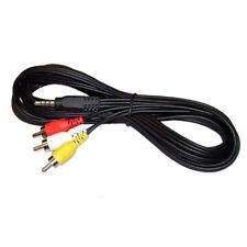 G09 2.5mm Klinke auf Cinch 3RCA Composite Audio Video AV Kabel für TV Camcorder